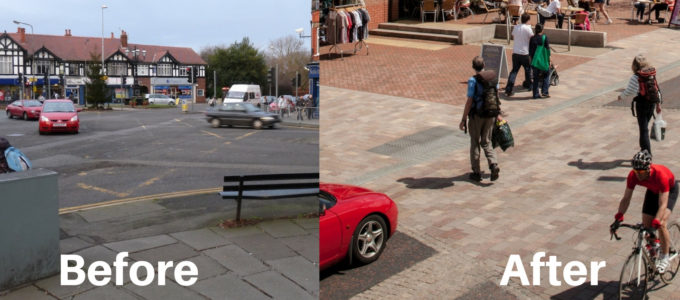 Poynton Active Design Shared Space Project Before and After